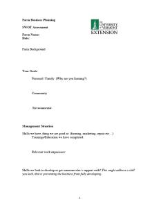 Farm business plan worksheet