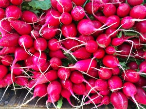 Remember to stop and smell the radishes.