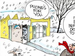 SnowAnswerThePhoneSmall