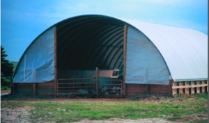Here's one example of a bedded pack building