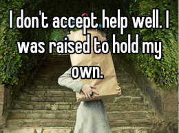 Accept help small