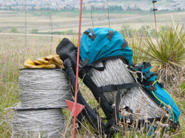 My poor backpack has never been used for an actual backpacking trip….it's only gone on fencing trips.