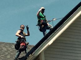 Installing solar panels on Rachel's house!
