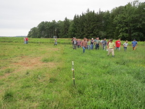 The Tri-County Graziers group checks out the pastures. Photo by Troy Bishopp