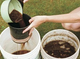 There are lots of different ways to make compost tea. Here's one. Other methods use aerators as well.