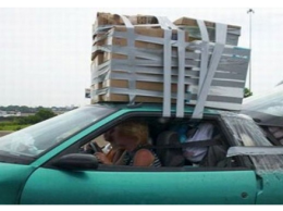 Duct Tape Cartop Carrier