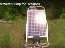 Portable solar power water pump