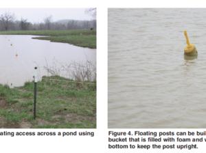 Floating Post Pond Fence