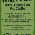 Wanted: 100% Grass Fed Fat Cattle