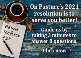 Click to fill out a survey to guide On Pasture's future